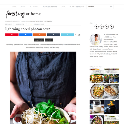 Lightning Speed Photon Soup | Feasting At Home