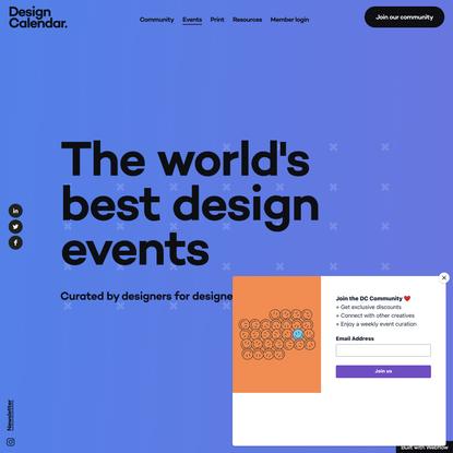 Design Calendar — The best online design events