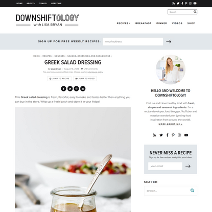 Greek Salad Dressing (Better Than Store-Bought) | Downshiftology