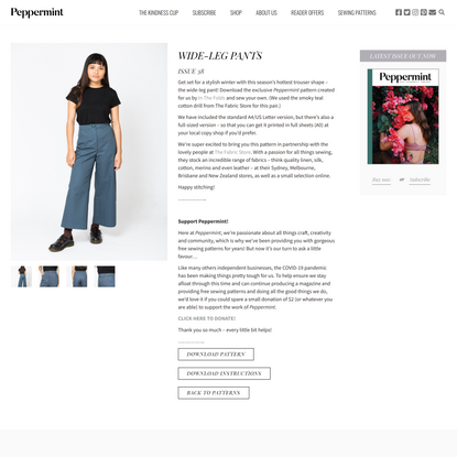 WIDE-LEG PANTS - peppermint magazine