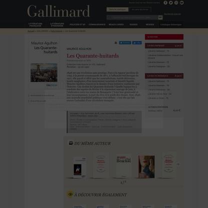 Les Quarante-huitards - Folio histoire - Folio - GALLIMARD - Site Gallimard