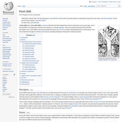 Feral child - Wikipedia