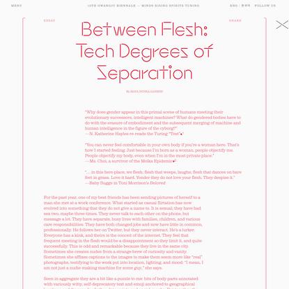 """Between Flesh: Tech Degrees of Separation"", Maya Indira Ganesh"