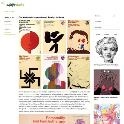 The Modernist Compositions of Rudolph de Harak - Alfalfa Studio