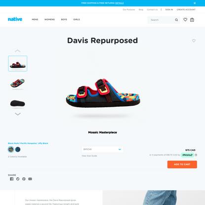 Davis Repurposed   Native Shoes