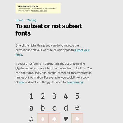 To subset or not subset fonts