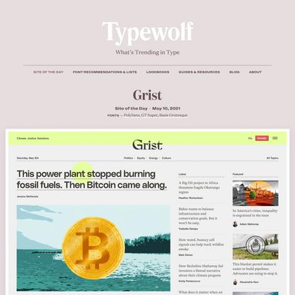Grist · Typewolf