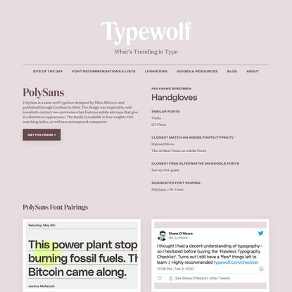 PolySans Font Combinations & Free Alternatives · Typewolf
