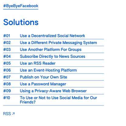 #ByeByeFacebook