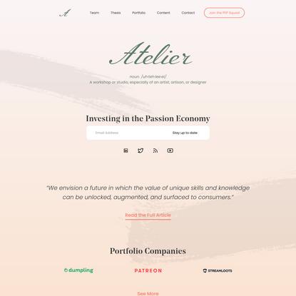 Atelier Ventures