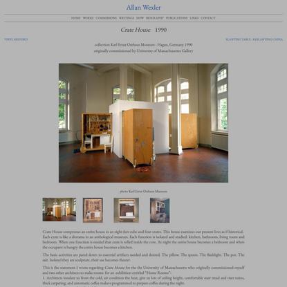 Crate House | Allan Wexler