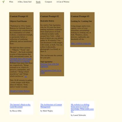 Website as Community Garden | Seeds