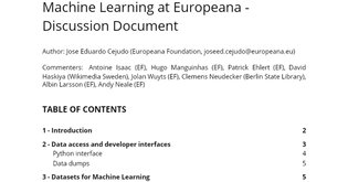 Machine Learning Discussion Document