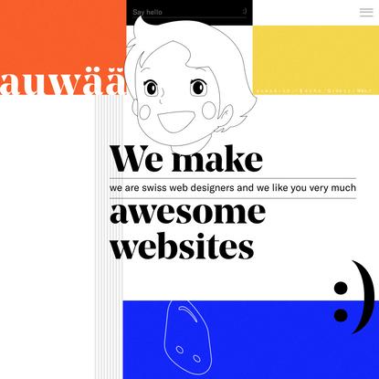 auwää studio — we make awesome websites
