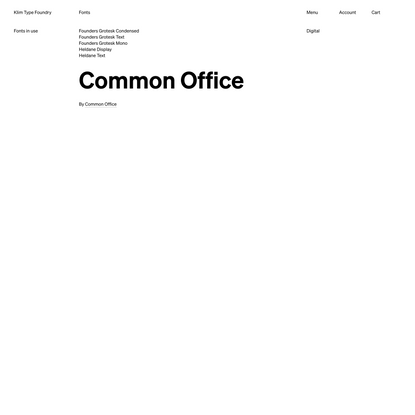 Klim Type Foundry · Fonts in use · Common Office
