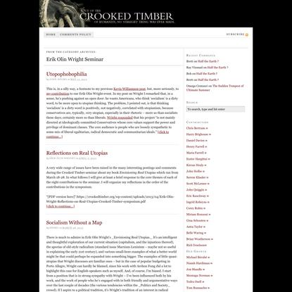 Erik Olin Wright Seminar – Crooked Timber