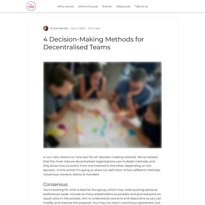 4 Decision-Making Methods for Decentralised Teams