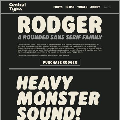 Rodger Font Family — Central Type