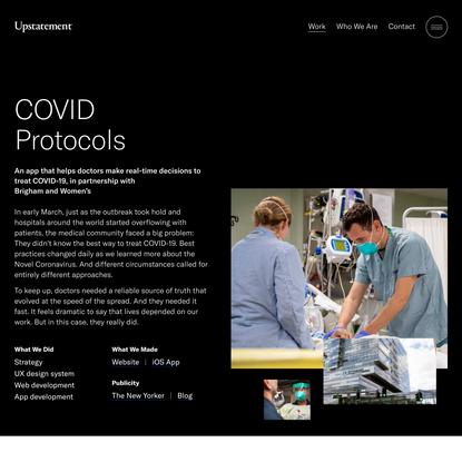 Covid Digital Health Apps - COVID Protocols