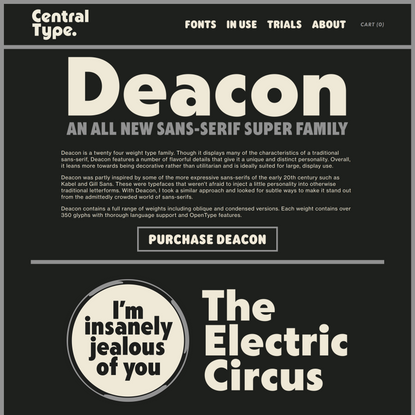 Deacon Font Family — Central Type