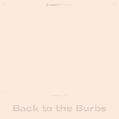 Back to the Burbs | Assemble Papers