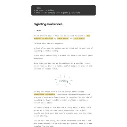 Signaling as a Service « julian.digital