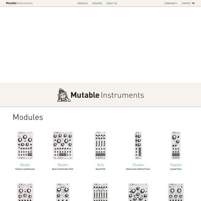 Mutable Instruments | Home