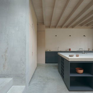 Concrete Plinth House, London (designed by DGN studio, 2020)