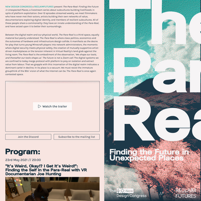 The Para-Real: Finding the Future in Unexpected Places