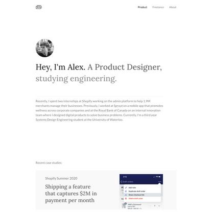 Alex Dales – Product Designer