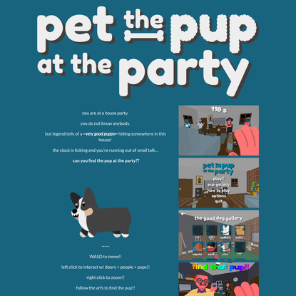 Pet the Pup at the Party by Will Herring