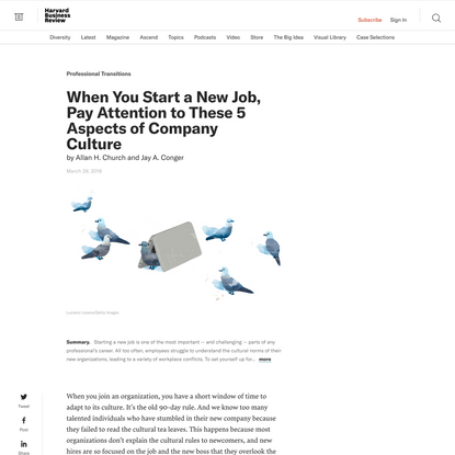 When You Start a New Job, Pay Attention to These 5 Aspects of Company Culture