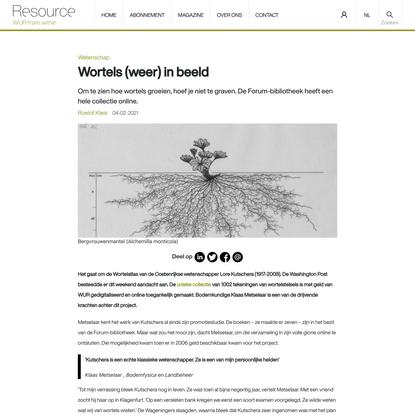 Wortels (weer) in beeld - Resource online