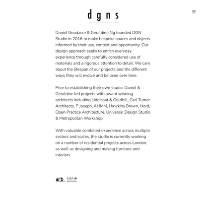 about — d g n s
