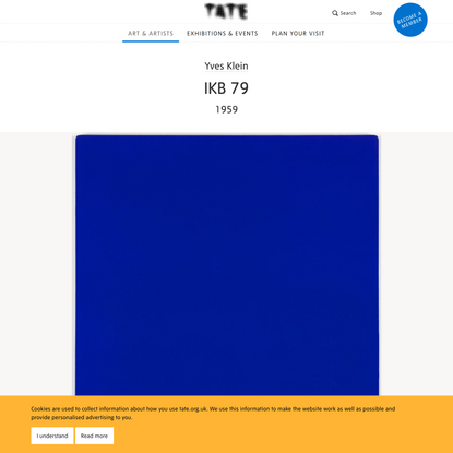 'IKB 79', Yves Klein, 1959   Tate