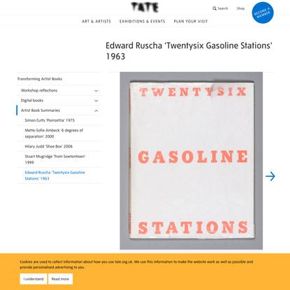 Edward Ruscha 'Twentysix Gasoline Stations' 1963 | Tate