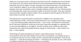 Open Letter to AP