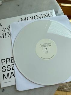 Vinyl design for an SSENSE x maison kitsune mix by Sierra Datri