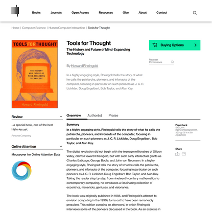 Tools for Thought | The MIT Press