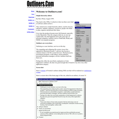 Outliners.Com: Welcome to Outliners.com!