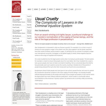 Usual Cruelty   The New Press