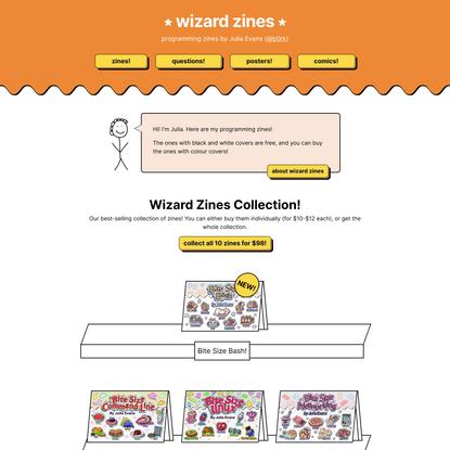 wizard zines