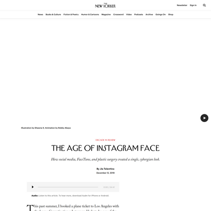 The Age of Instagram Face