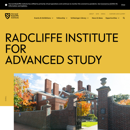Radcliffe Institute for Advanced Study at Harvard University