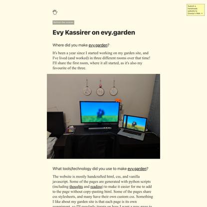 Evy Kassirer on evy.garden