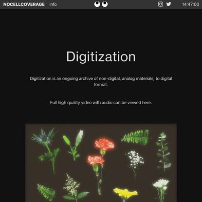 Digitization — nocellcoverage