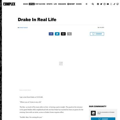 Drake In Real Life
