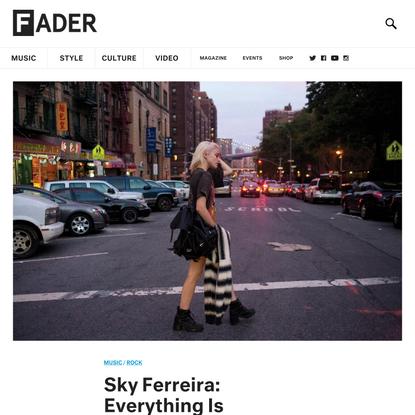 Sky Ferreira: Everything Is Embarrassing