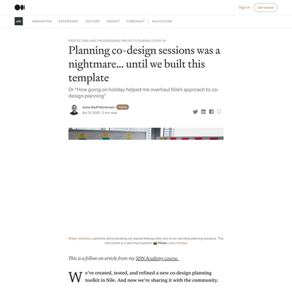 Planning co-design sessions was a nightmare… until we built this template