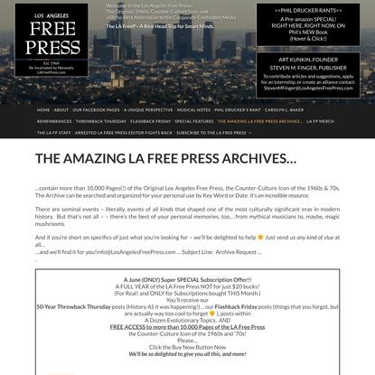 THE AMAZING LA FREE PRESS ARCHIVES…
